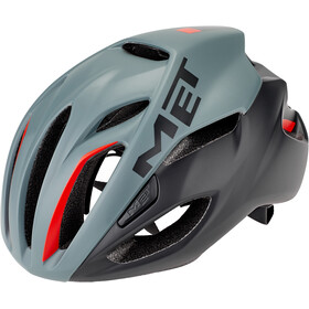 MET Rivale Casque, gray/black/red